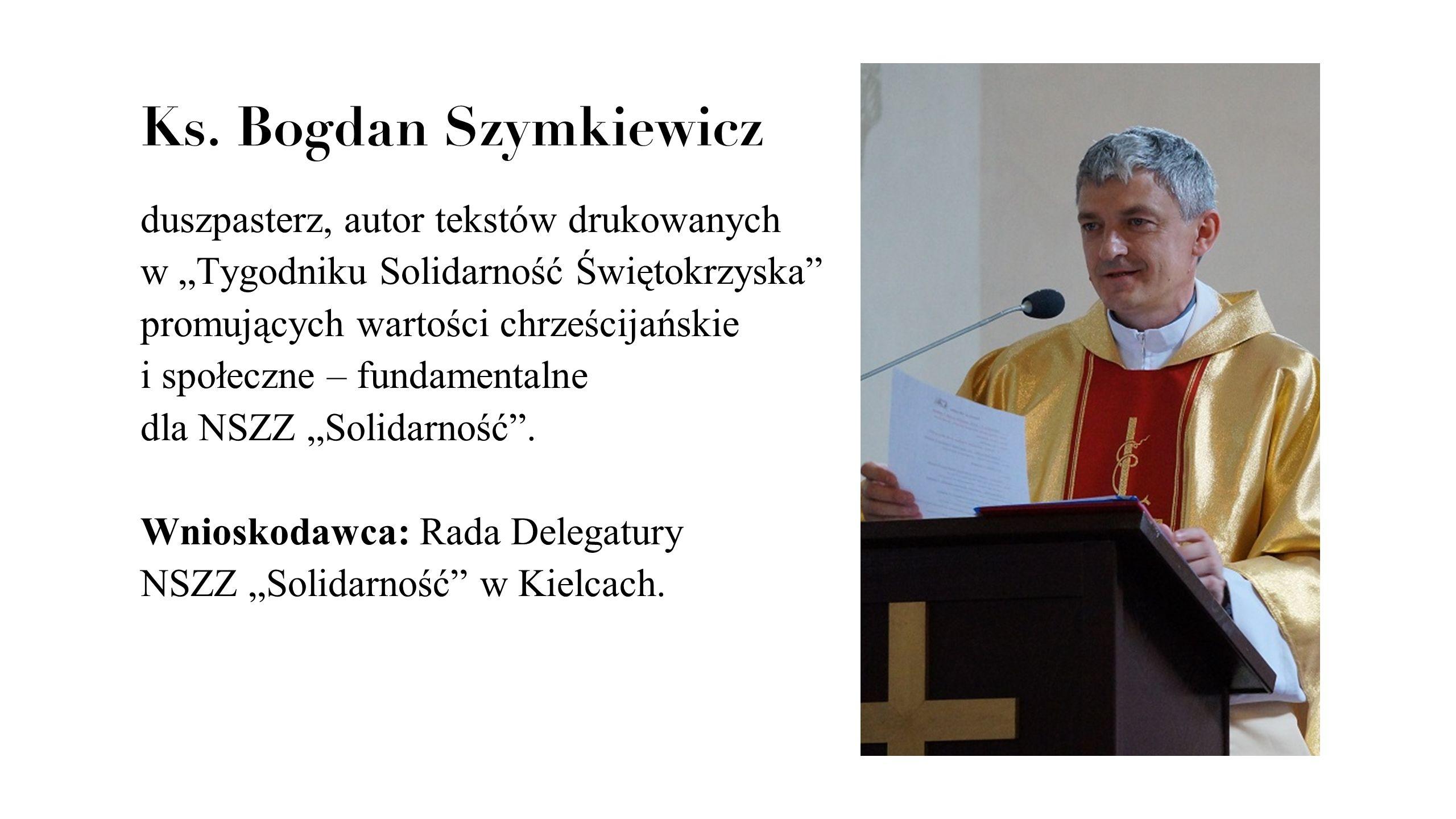 Ks. Bogdan Szymkiewicz