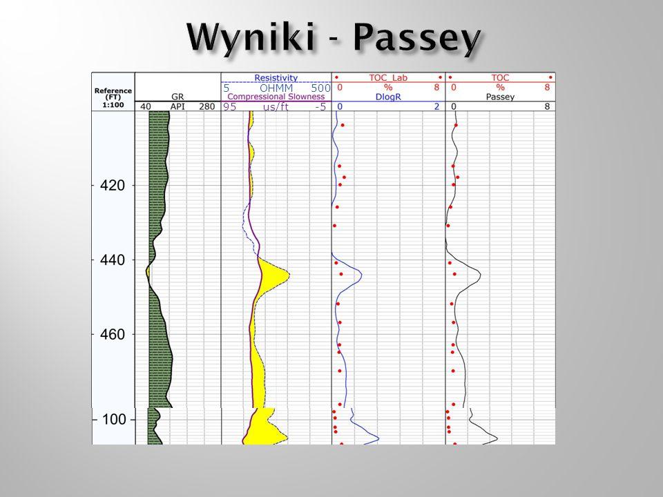 Wyniki - Passey 5 500 95 -5 OHMM us/ft 5 500 95 -5 OHMM 5 500 95 -5