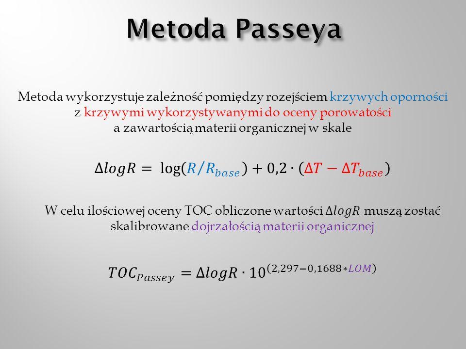 Metoda Passeya ∆𝑙𝑜𝑔𝑅= log 𝑅 𝑅 𝑏𝑎𝑠𝑒 +0,2∙ ∆𝑇− ∆𝑇 𝑏𝑎𝑠𝑒