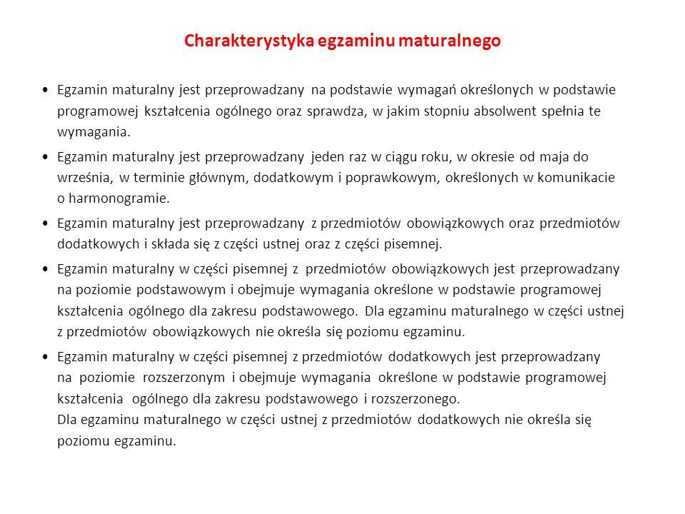 Charakterystyka egzaminu maturalnego