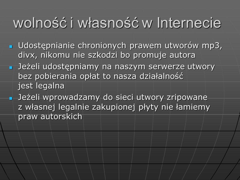 wolność i własność w Internecie