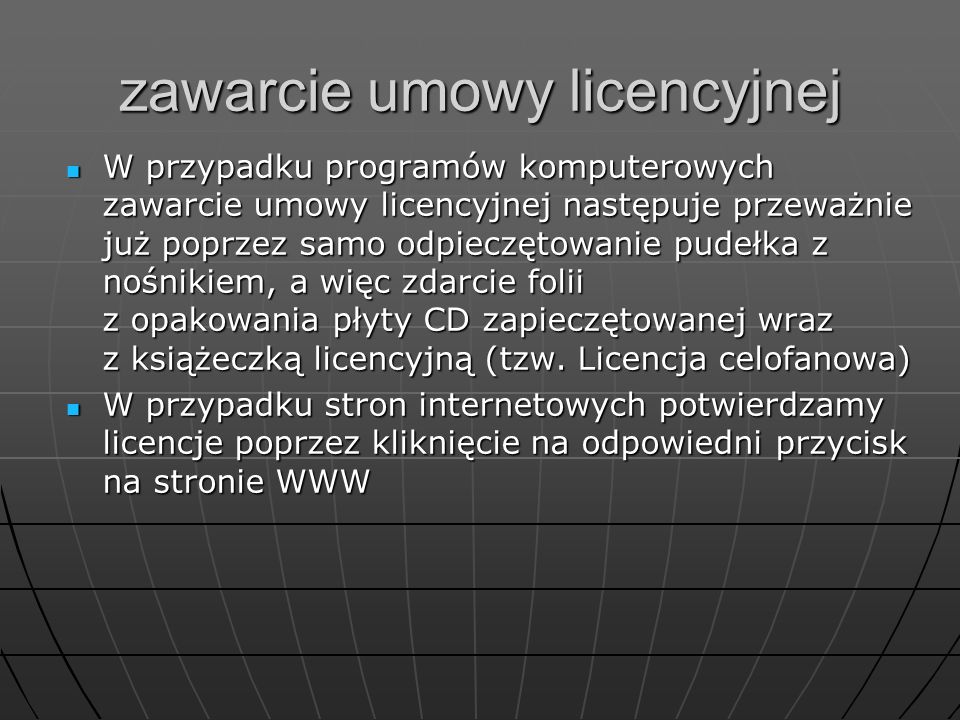 zawarcie umowy licencyjnej