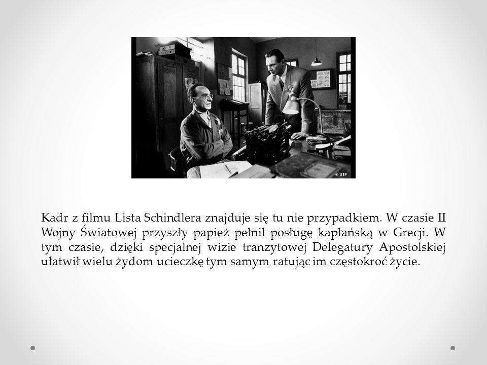 Kadr z filmu Lista Schindlera znajduje się tu nie przypadkiem