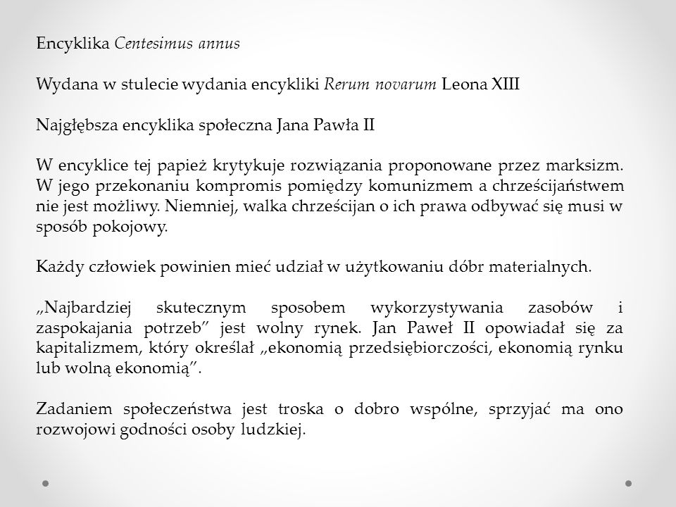 Encyklika Centesimus annus