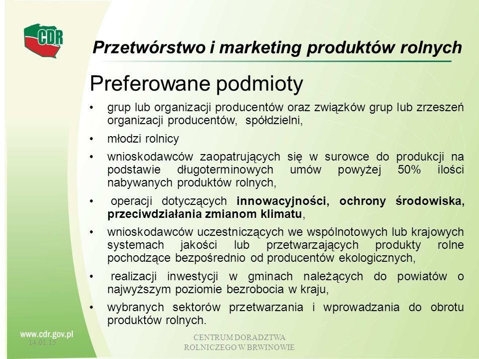 Przetwórstwo i marketing produktów rolnych