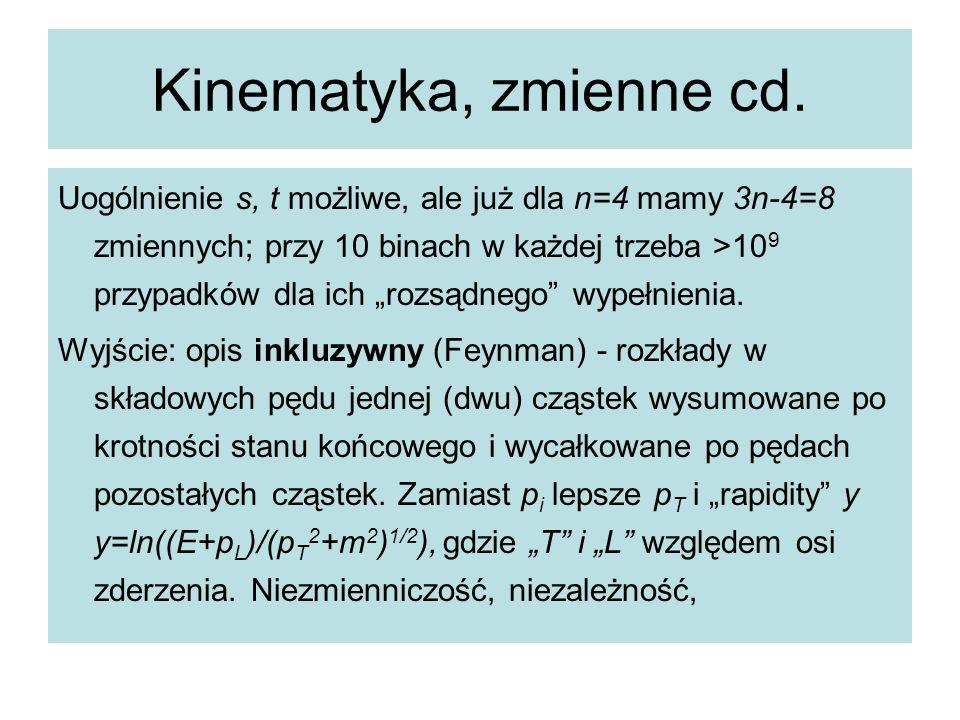 Kinematyka, zmienne cd.