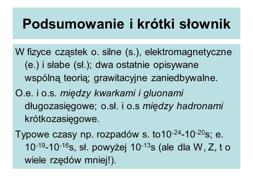 Podsumowanie i krótki słownik