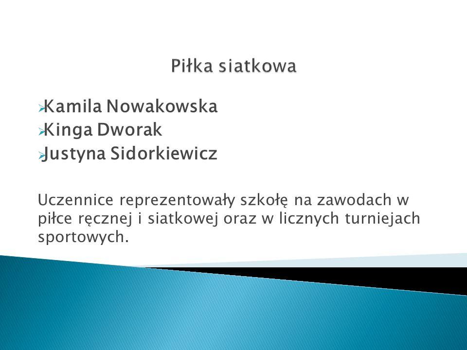 Piłka siatkowa Kamila Nowakowska Kinga Dworak Justyna Sidorkiewicz