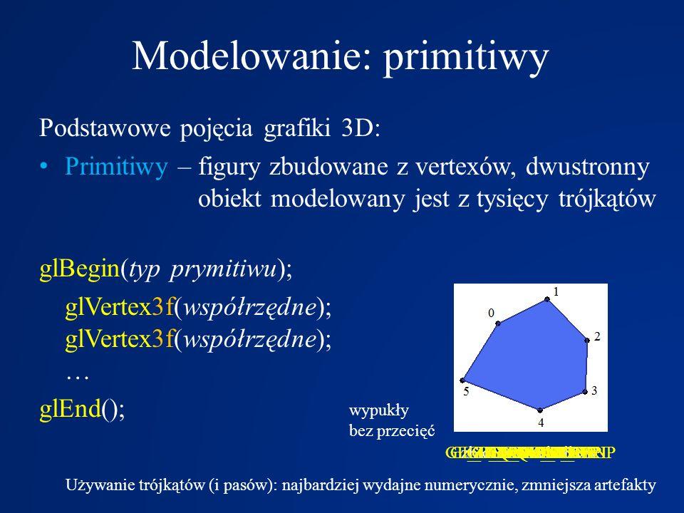 Modelowanie: primitiwy