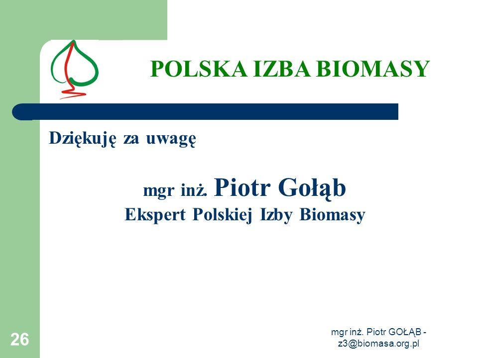 Ekspert Polskiej Izby Biomasy
