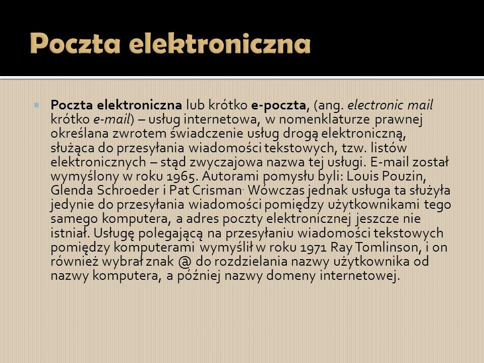 Poczta elektroniczna