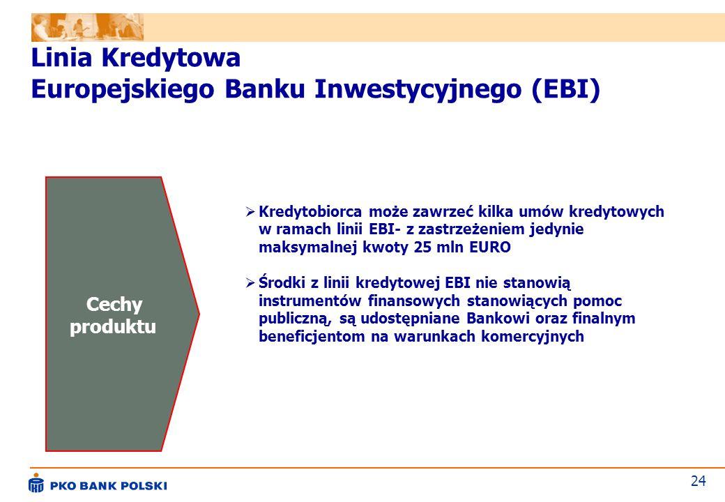 Linia Kredytowa Europejskiego Banku Inwestycyjnego (EBI)