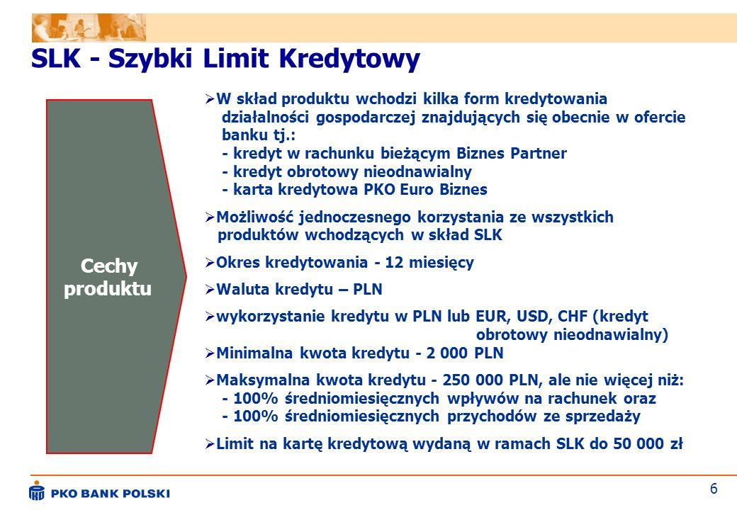 SLK - Szybki Limit Kredytowy