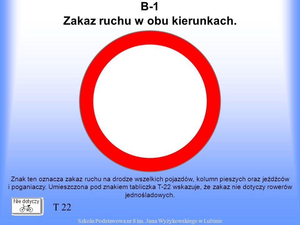 Zakaz ruchu w obu kierunkach.