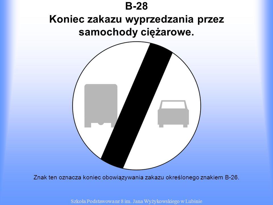 Koniec zakazu wyprzedzania przez samochody ciężarowe.