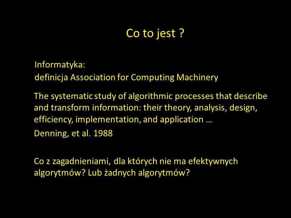 Co to jest Informatyka: