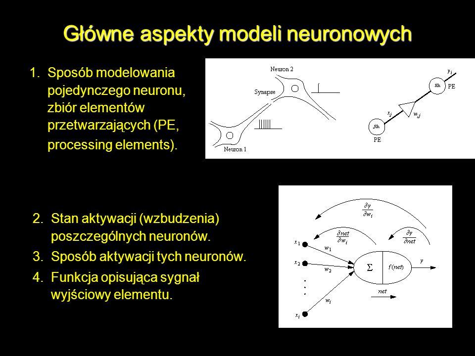 Główne aspekty modeli neuronowych