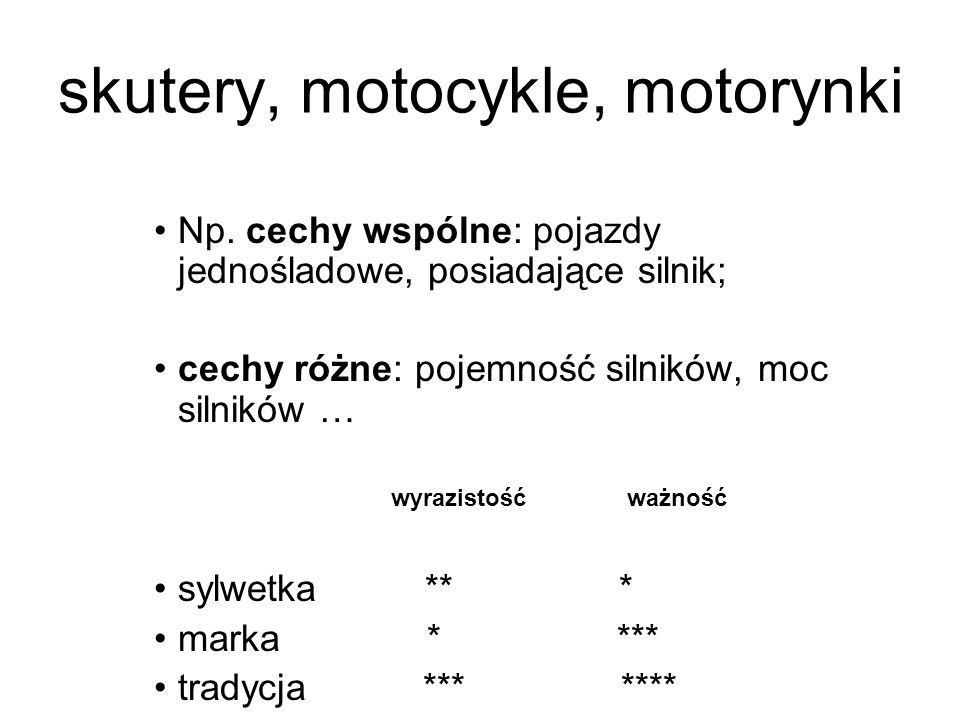 skutery, motocykle, motorynki