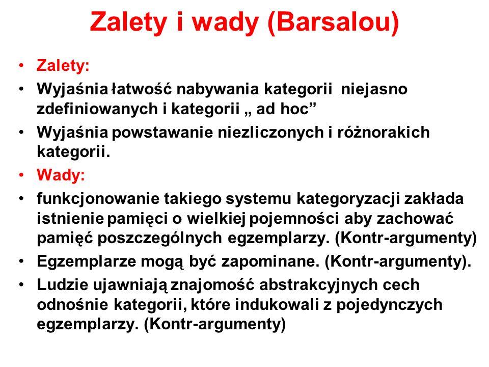 Zalety i wady (Barsalou)