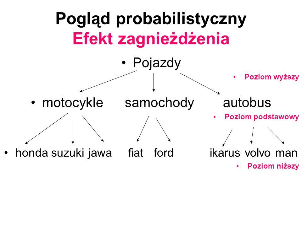 Pogląd probabilistyczny Efekt zagnieżdżenia