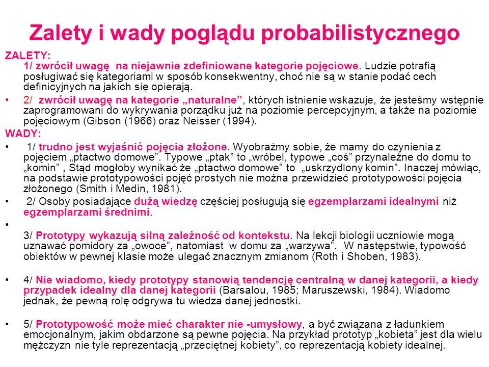 Zalety i wady poglądu probabilistycznego