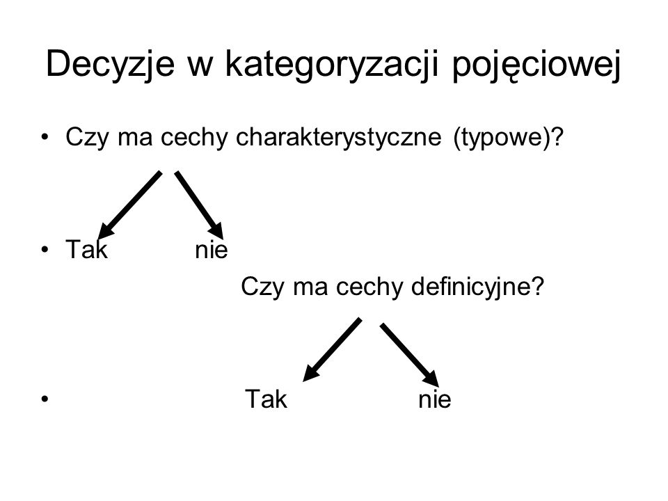 Decyzje w kategoryzacji pojęciowej