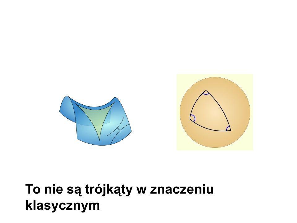 To nie są trójkąty w znaczeniu klasycznym
