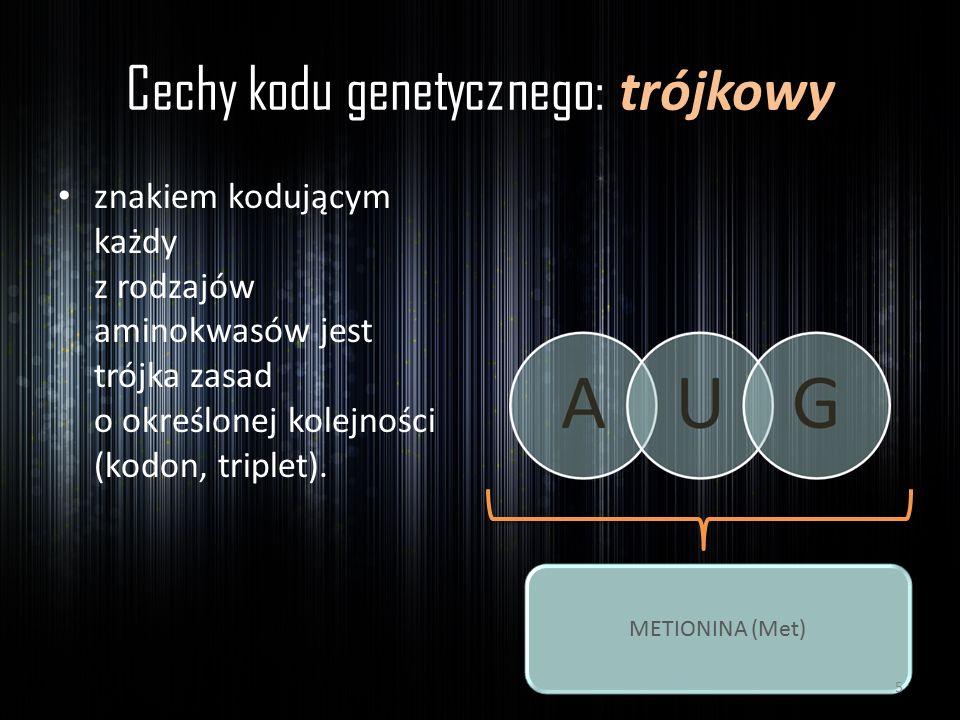 Cechy kodu genetycznego: trójkowy