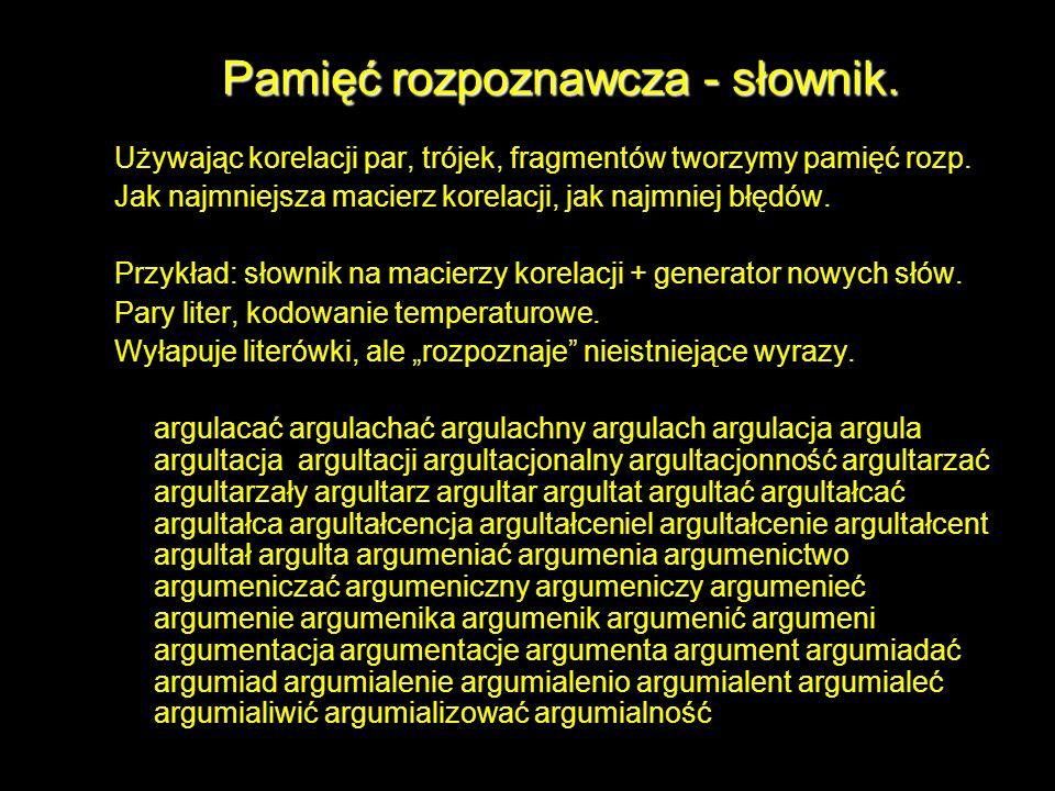 Pamięć rozpoznawcza - słownik.