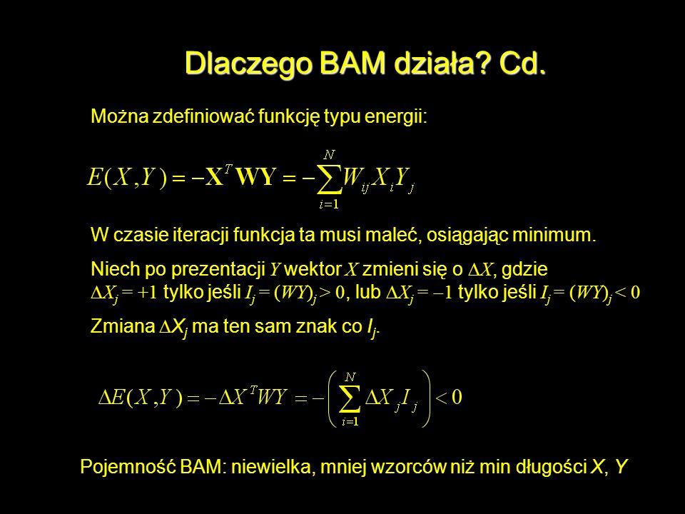 Dlaczego BAM działa Cd. Można zdefiniować funkcję typu energii: