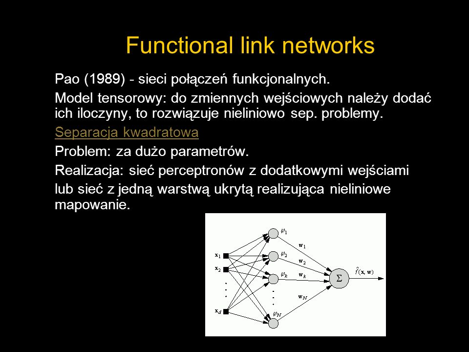 Functional link networks