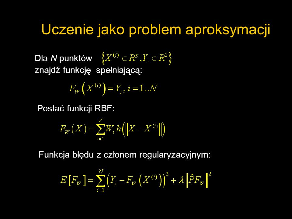 Uczenie jako problem aproksymacji