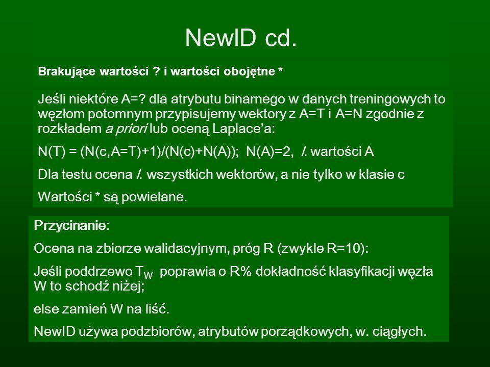 NewID cd. Brakujące wartości i wartości obojętne *