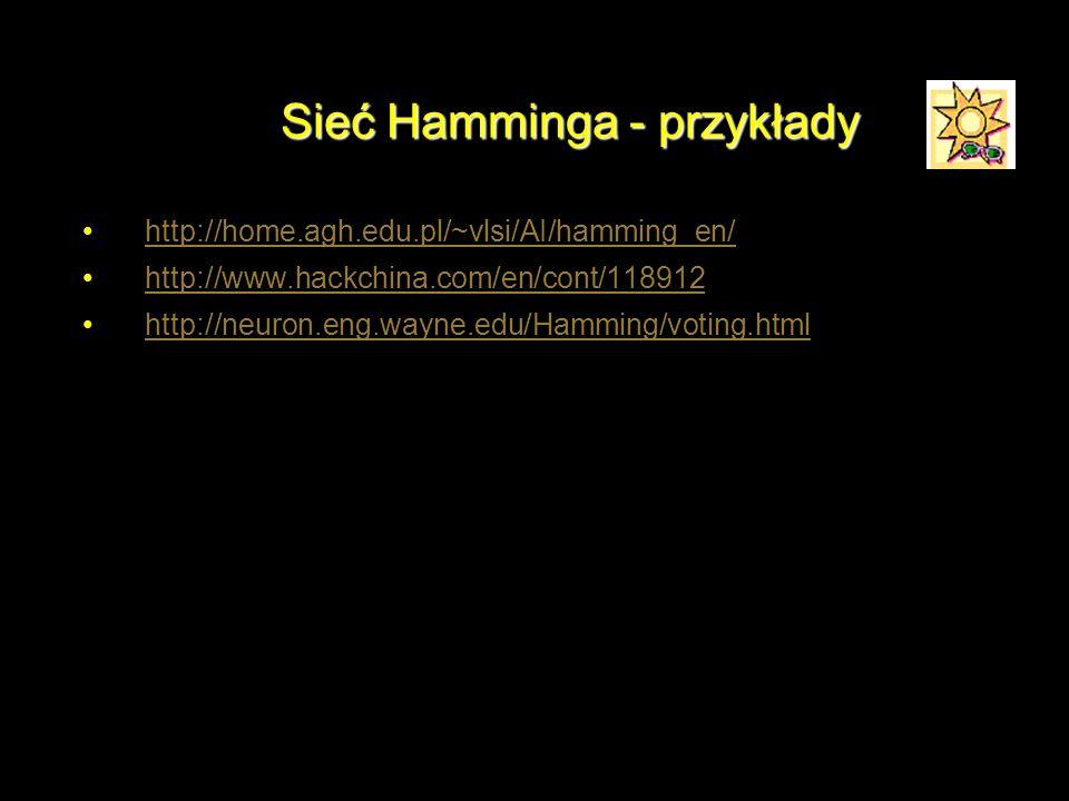 Sieć Hamminga - przykłady