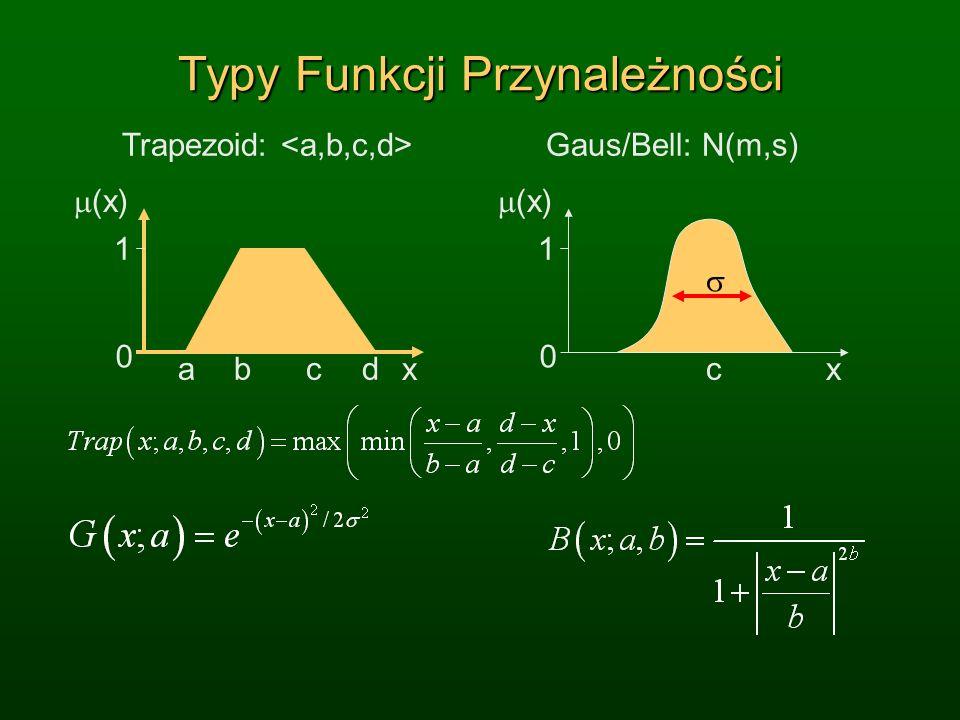 Typy Funkcji Przynależności