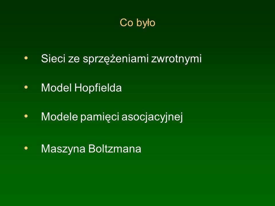 Sieci ze sprzężeniami zwrotnymi Model Hopfielda