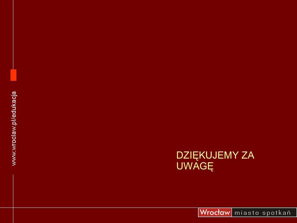 www.wroclaw.pl/edukacja DZIĘKUJEMY ZA UWAGĘ