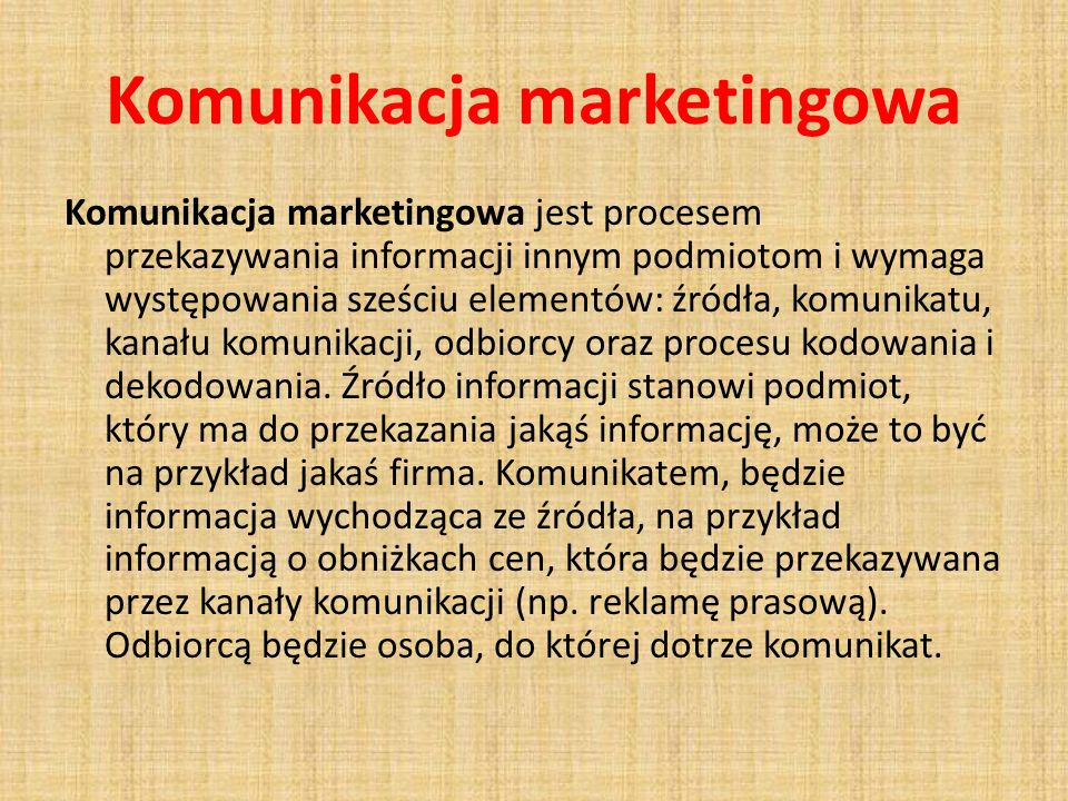 Komunikacja marketingowa