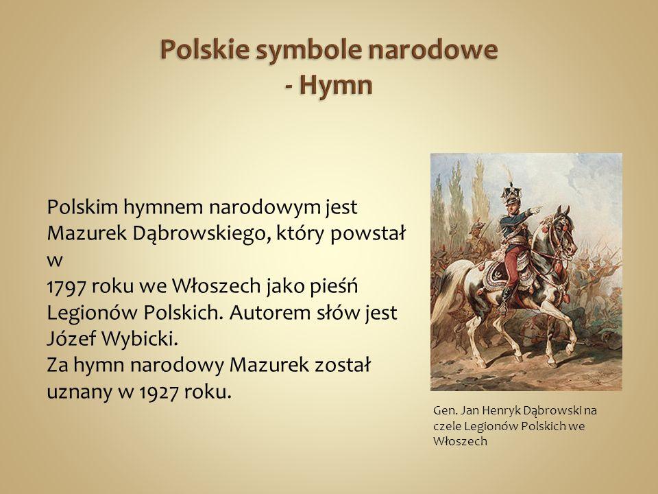 Polskie symbole narodowe - Hymn