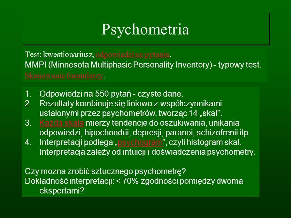 Psychometria Test: kwestionariusz, odpowiedzi na pytania.