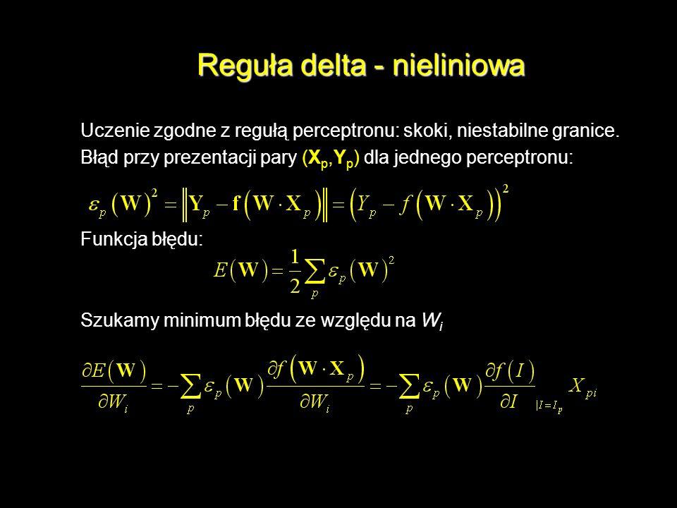 Reguła delta - nieliniowa