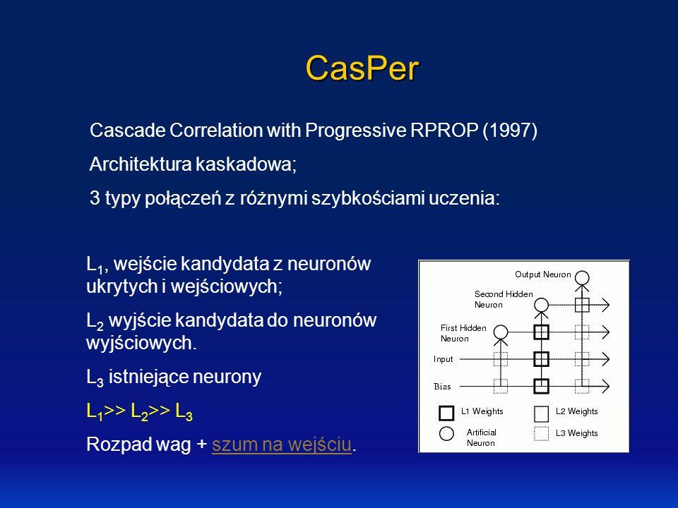 CasPer Cascade Correlation with Progressive RPROP (1997)