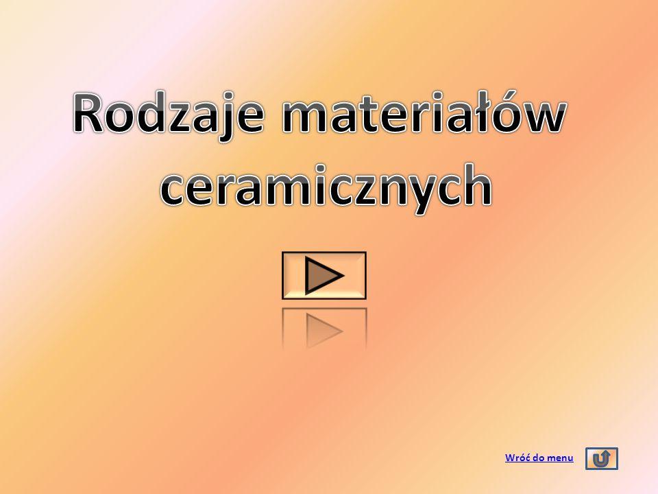 Rodzaje materiałów ceramicznych