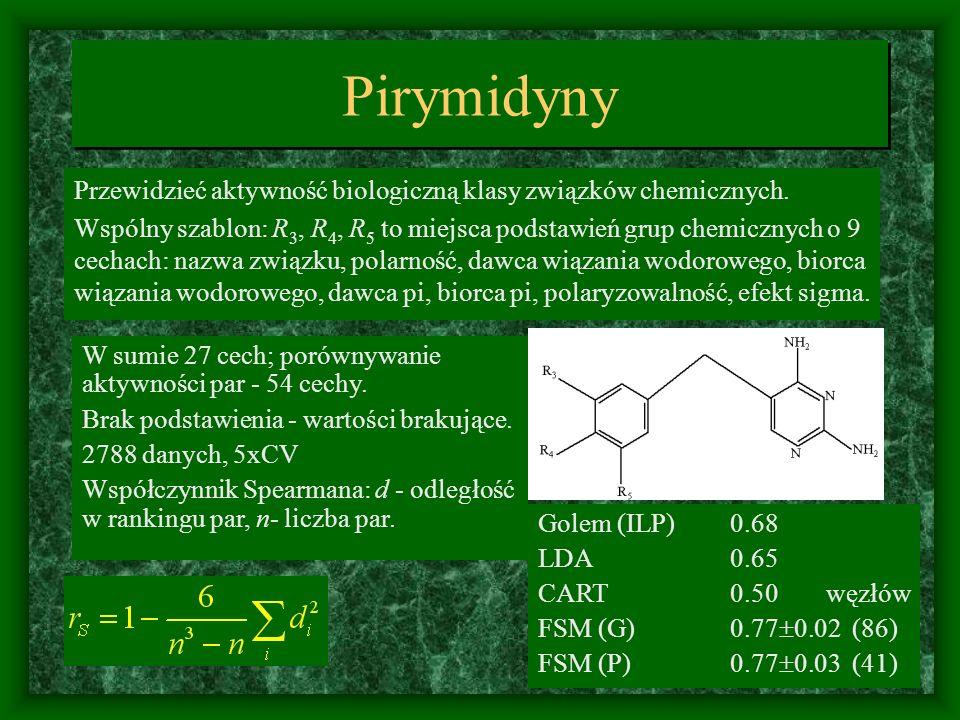 Pirymidyny Przewidzieć aktywność biologiczną klasy związków chemicznych.