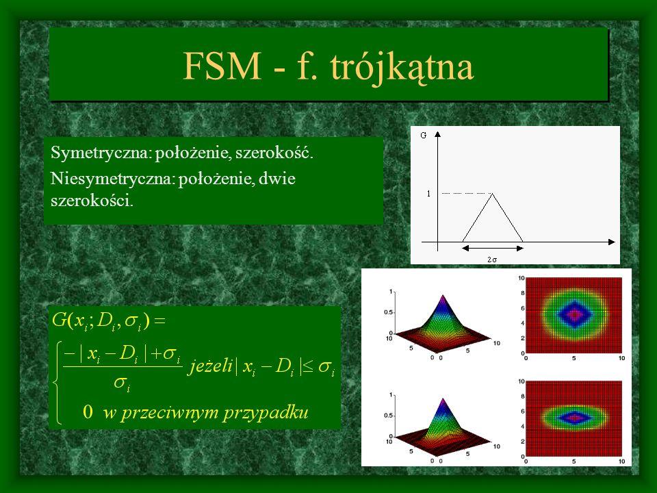 FSM - f. trójkątna Symetryczna: położenie, szerokość.