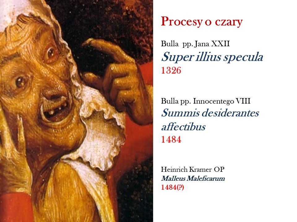 Procesy o czary Super illius specula Summis desiderantes affectibus