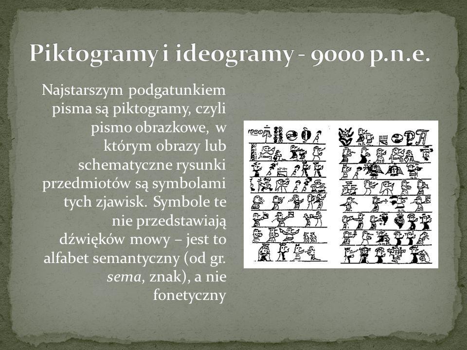 Piktogramy i ideogramy - 9000 p.n.e.