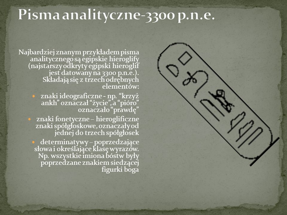 Pisma analityczne-3300 p.n.e.