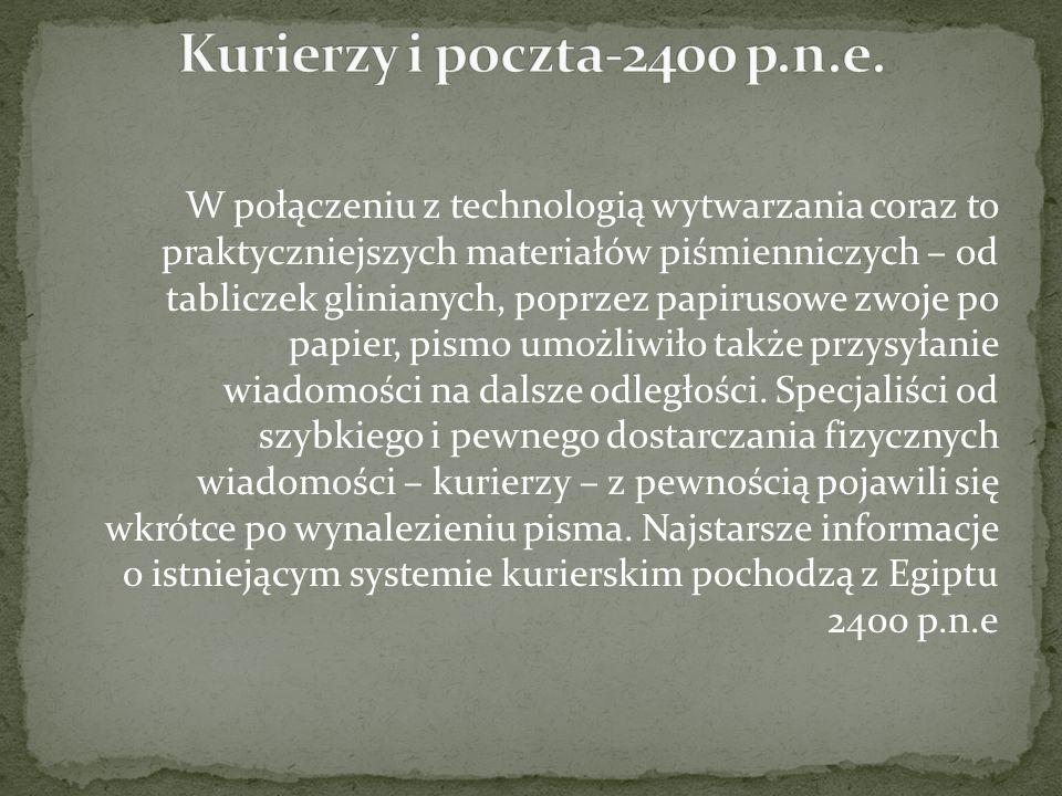 Kurierzy i poczta-2400 p.n.e.