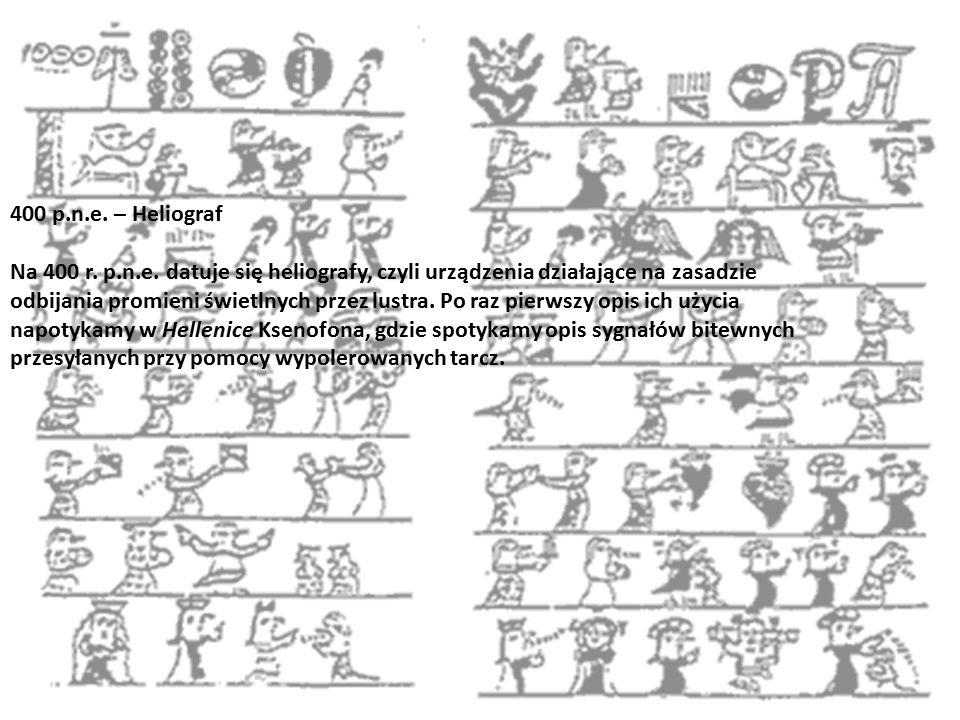 400 p.n.e. – Heliograf